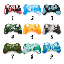 High Quality NEW Camouflage Silicone Skin Case Protective Cover for SONY Playstation 3 PS3 Controller Top Quality 9 Colors