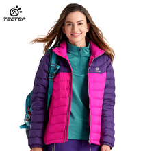 TECTOP High Quality Matching Thick Down Jacket Women Winter Coat Clothing Padded Slim Warm Jacket Coat 90% Duck Down Jacket