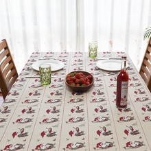 2017 New Spring Old Man&Cat Print Linen TableCloth High Quality Tablecloth Table Cover manteles para mesa Free Shipping(China)