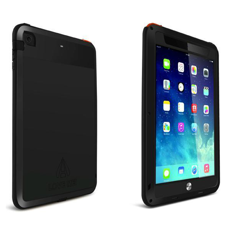 Brand Case for IPad Air Waterproof Case Fundas Capa Dirt Proof Shockproof Cover for IPad 5 Tempered Glass+Tough Metal+Silicone<br>