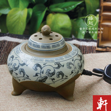 Antique stoneware quality aromatherapy incense burner furnace electronic eaglewood powder/dust/oil temperature
