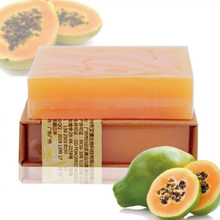 New Arrival 110g Natural Organic Herbal Green Papaya Whitening   Skin Remove Acne Moisturizing Handmade Soap