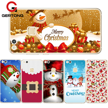 GerTong Christmas Phone Case For Huawei Honor 8 Lite 9 P10 P9 Lite Snowman Santa Claus Back Cover For Huawei P8 Lite 2017 Cases(China)