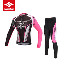 Santic Cycling Set Women Pro Cycling Clothing Set Road MTB Bike Jersey Quick Dry Riding Raing Bicycle Clothes Suit Ropa Ciclismo(China)