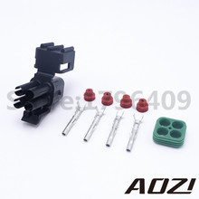 10 Sets Delphi Weatherpack Style 2.5 Series 4 Positions Auto Connector Female Electrical Truck Connectors Plug