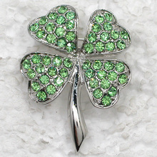 Hot sell clover Brooch Rhinestone Pin brooches C821 K