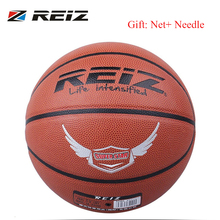 REIZ 904 Official Size 7 PU Leather Basketball Sports Practice Indoor Outdoor Competitive Street Play Training dropshipping(China)