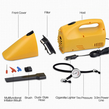 Car Electrical Appliances Portable Car Vacuum Cleaner Wet and Dry Super Suction DC 12V Handheld Dust Collector Inflatable Pump(China)