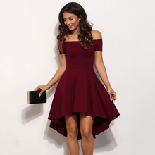 2017 Summer Elegant Vintage Dovetail Dress For Woman Sexy Off The Shoulder Party Club Dresses Plus Size 3 colors