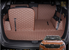 High quality! Special trunk mats for KIA Sorento 7seats 2017 waterproof cargo liner carpets for Sorento 2016-2015,Free shipping
