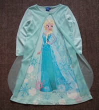 Free Shipping 2016 New Arrival 6pcs/lot 4-14yrs Little Girl's Snow Queen Elsa Combed Cotton Nightgowns Girls Nighties