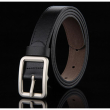Child formal dress boys teenage belt hot designer kids PU leather fashion elastic belt buckle black Leisure strap Casual Belt(China)
