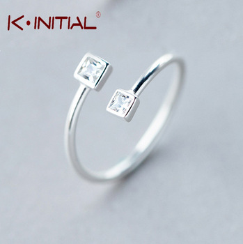 Kinitial 1Pcs Fashion Wedding Rings for women 925 Silver Jewelry Luxury Crystal Rings Engagement Square AAA Zirconia Ring Bijoux