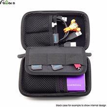 Portable Digital Accessories Gadget Devices Organizer USB Cable Charger Tote Case Storage Bag Durable Travel Organizador
