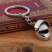 Helmet Key Chain Alloy Motorcycle Casque Keychain Men And Women Key Ring Trendy Keyring For Car Purse Bag Gift