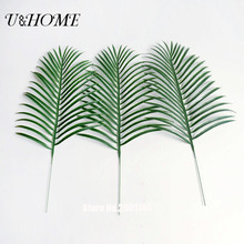 Cheap artificial ombre kwai leaf branch fake palm plants plastic grass flower for home wall garden wedding DIY decoration bulk