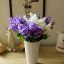 High Quality Lovely Dark Purple Light Purple White 5 Heads Artificial Fake Hyacinth Flower Bedroom Home Wedding Decoration(China)