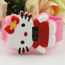 Hello Kitty girls favorite cartoon character KT cat electronic pat watch student tape manufacturers