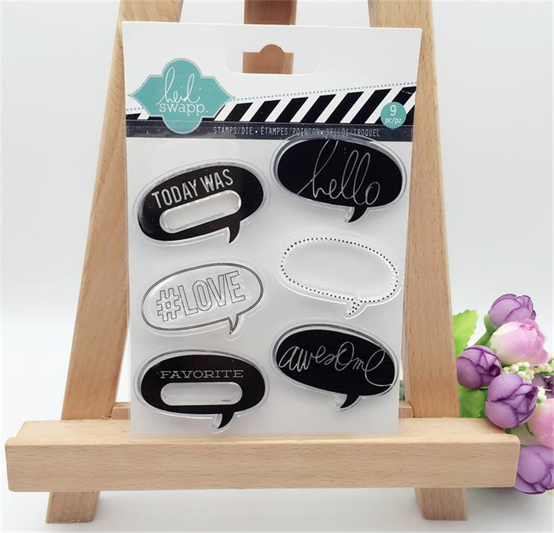 Scrapbook DIY paper card Comments Box A message box  silicone stamps transparent stamp christmas gift YUW007<br><br>Aliexpress