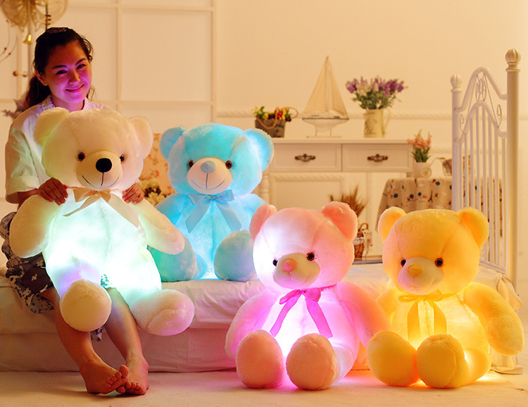 Creative Glowing Teddy Bear Inductive Luminous Led Plush Toys