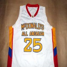25 DERRICK ROSE Dolphins McDonald ALL AMERICAN high quality basketball jersey Retro throwback Embroidery stitchin Cheap menswear