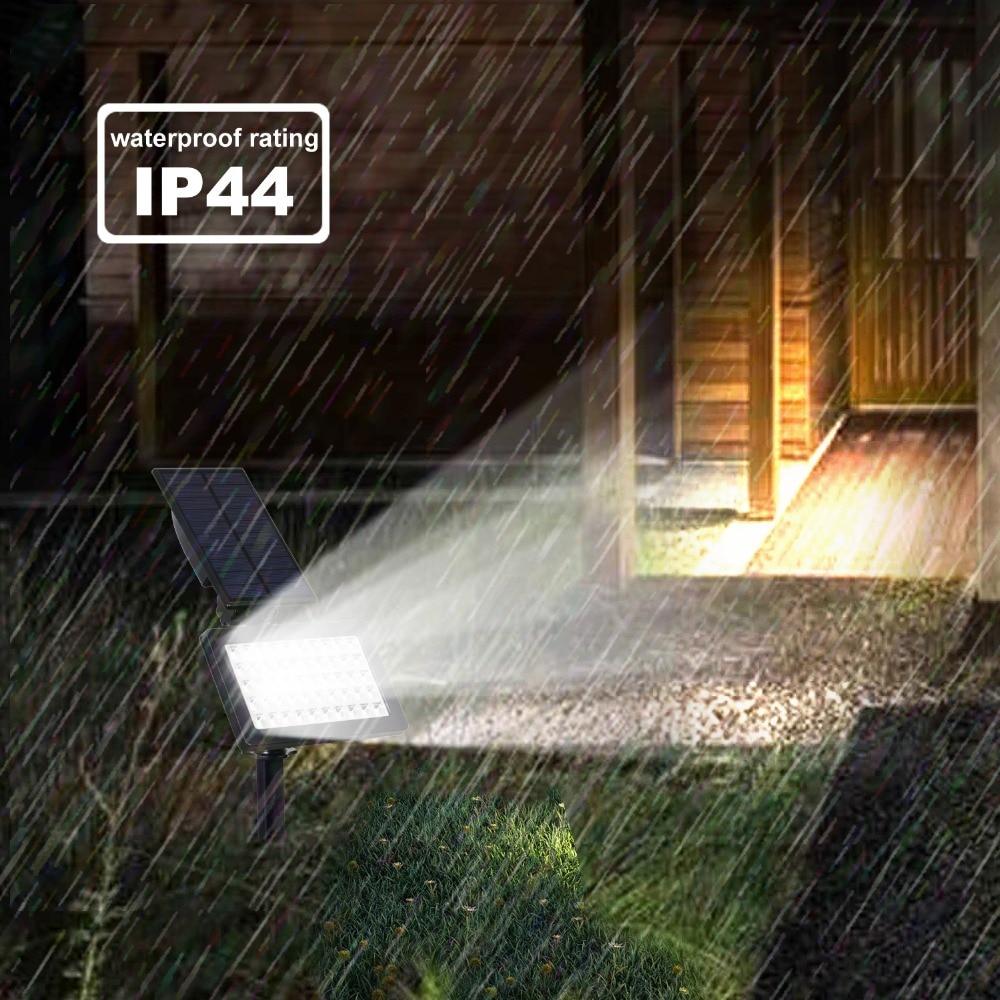 T-SUNRISE 50 LEDs Solar Light Outdoor LED Solar Powered Garden Lights IP44 Waterproof Lawn Lamp Landscape Spot Lights 10