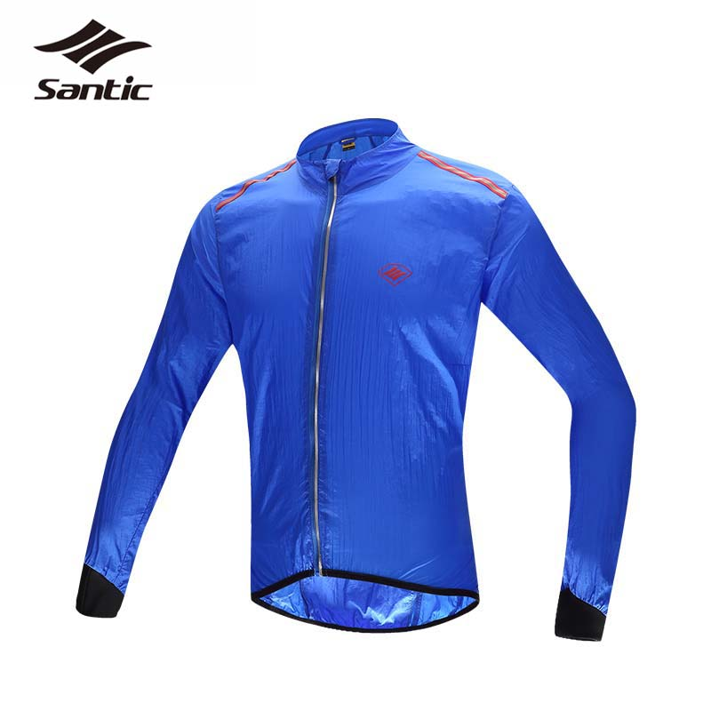Santic Cycling Jacket Long Sleeve Waterproof Windproof MTB Road Bike Jacket Breathable&amp;Quick Dry Wind Coat SPF30+ Rain Jacket<br><br>Aliexpress