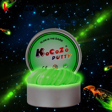 Luminous DIY Slime Modeling Clay Light Glow In The Dark Fluffy Polymer Clay Plasticine Education Novelty Creative Slime Toys(China)