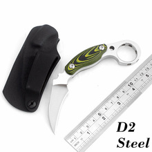 High quality D2 steel Karambit Knife Mikta handle camping hunting knives outdoor survival tactical knife pocket EDC tools(China)