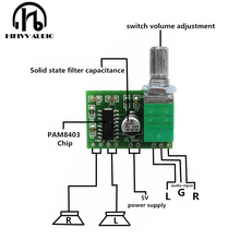 Hifivv audio power amplifier board 2.0CH 3W DC5V input(China)