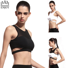 Buy DANENJOY Sports Running Bra Crop Top Mesh Hollow Shakeproof Gym Fitness Sexy Yoga Brassiere Women Padded Push Underwear 2017 for $9.72 in AliExpress store
