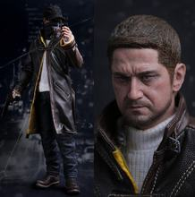"1/6 scale figure doll NIGHTMARE STALKER game Watch Dogs Aiden Pearce 12"" action figure doll Collectible model plastic toys"