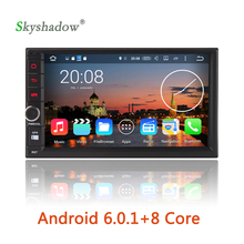 Fast! 8 core+2G RAM+32G ROM Android 6.0 Octa Core universal Car DVD Player Tape recorder Bluetooth wifi 3G DVR TV RDS Radio