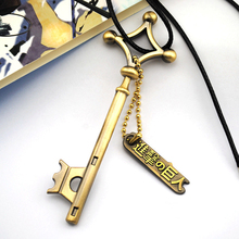 Attack On Titan Eren Key Necklace Metal Pendant Eren Cosplay Jewelry Toy Anime Figure Shingeki No Kyojin Gift Halloween A671b