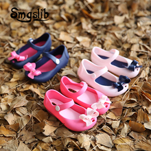 2017 Summer Girls sandals bow Korean crystal jelly shoes jelly fish head Boots Kids shoes girls princess shoes single Sandals(China)