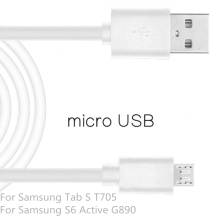 Micro USB2.0 Cable Mobile Phone For Samsung Galaxy S6 Active G890 1m USB Data Charger Cable Sync For Samsung Galaxy Tab S T705