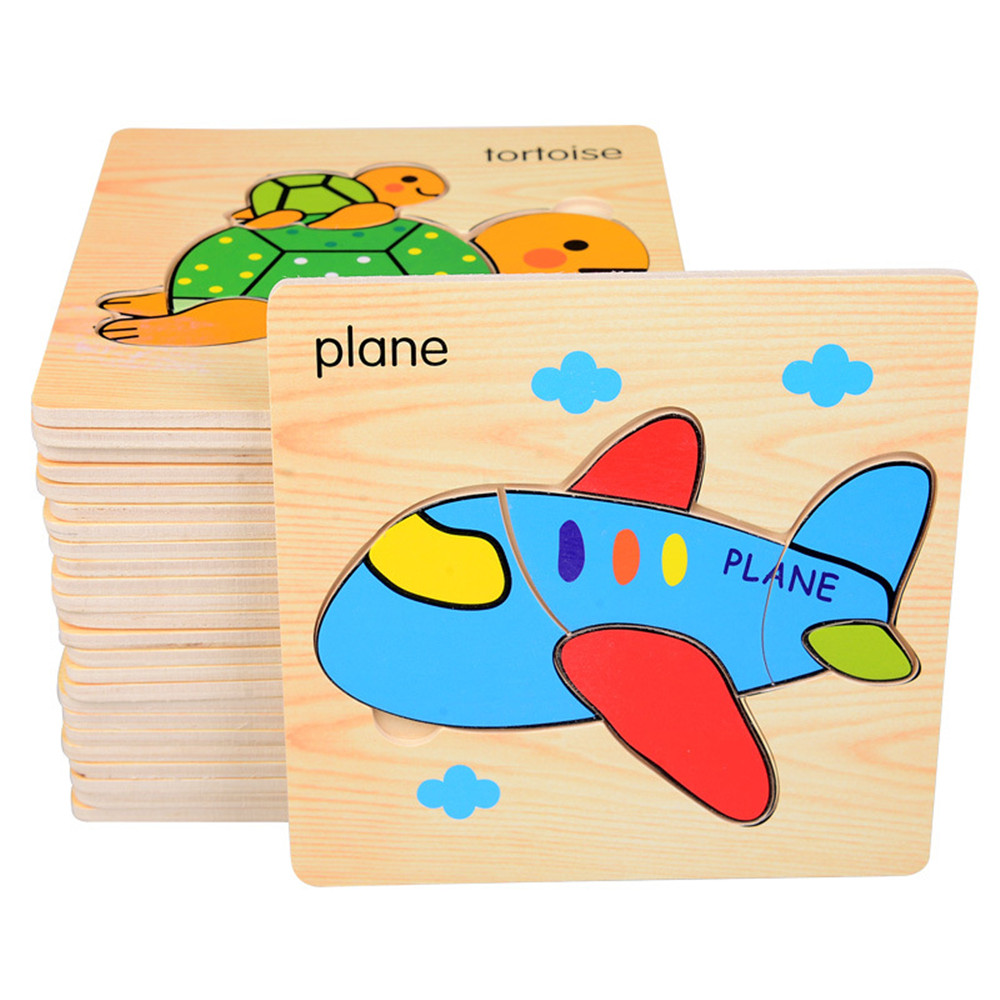 8pcs children learn wooden puzzle baby children children building wood puzzle early education puzzle three-dimensional fight toy 4