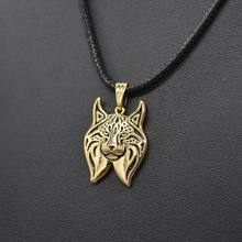 2017 Fashion Women Rope Chain Silver Plated Alloy Cat Necklaces Vintage Metal Lynx Pendant Necklaces For Lovers Drop Shipping(China)