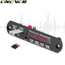 Onever Draadloze Bluetooth Fm-zender Carkit Speler 12 V MP3 WMA Decoder Board Audio Module USB TF Auto Accessoires Radio(China)