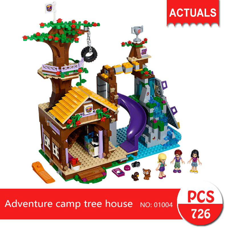 Lepin 01004 726Pcs Friends series Adventure camp tree house  Building Blocks   Bricks Toys For Children Gift<br>