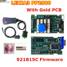 5pcs/lot DHL Free Newest Lexia3 with 921815C Firmware Golden PCB lexia PP2000 Lexia 3 Diagbox V7.83 Lexia-3 diagnostic tool