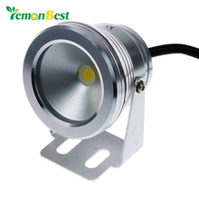 Lemonbest 10W 12v underwater Led Light Warm White Waterproof IP68 fountain pool Lamp Silver Cover Body