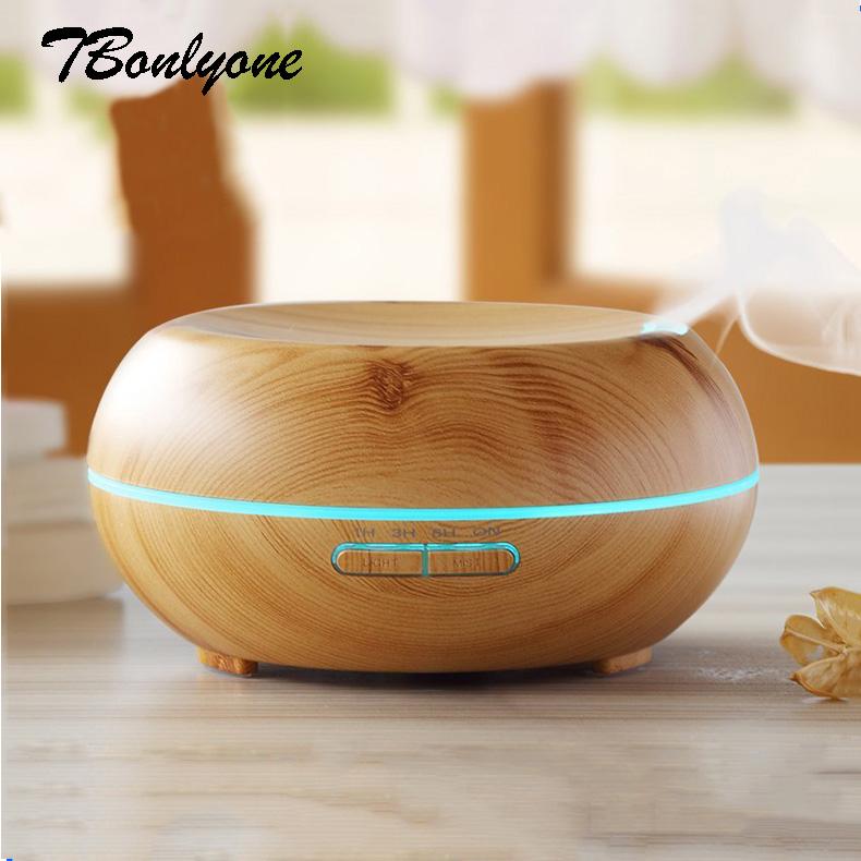 TBonlyone 200ML Essential Oil Diffuser Wood Grain Ultrasonic Aroma Cool Mist Humidifier for Office Bedroom Baby Room Study Yoga <br>