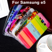 Soft TPU Plastic Telephone Case For Samsung E5 Case For Samsung Galaxy E5 E5000 SM-E500F E500 E500H E500F SM-E500FDS Cover Shell