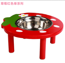 wooden pet cat dog bowel feeder Hot Newest Stainless Steel Pet Puppy Cat Dog Food Bowl Drink Water Dish Feeder 3 Colors