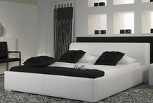 simple leisure contemporary modern leather bed King size bedroom furniture Made in China