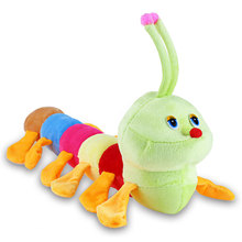 2016 New Popular Colorful Inchworm Caterpillar Soft Lovely Plush Toys Cute Dolls Bolster for Birthday Christmas Children Gifts(China)