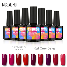ROSALIND 10ML RED Color Series UV lLED Soak-off Gel Nail Polish Acrylic for Nail Gel Polish Art False Tips Extension Varnish(China)