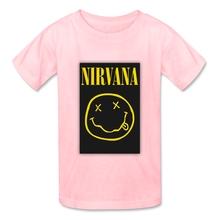 Nirvana Kurt Cobain Smiley Face T Shirt Baby Cotton O Neck Tshirt children's Garment 2017 Rock N Roll Star T-shirt For Boy Girl