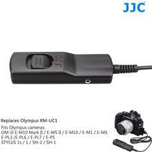 JJC Wire Remote Shutter Cord Camera Release Cable for OLYMPUS RM-UC1 Compatible PEN F/E-PL8/OM-D E-M10 Mark II